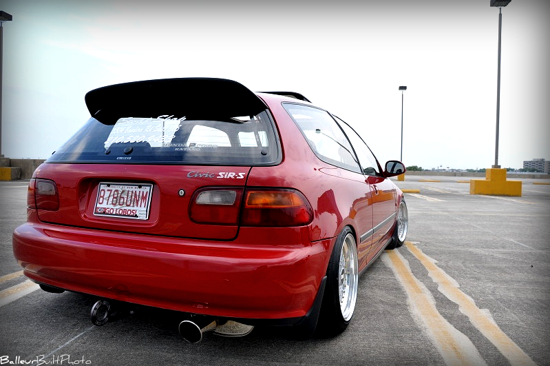 Honda Civic Hatchback Ek. Hatch red virgin must sell